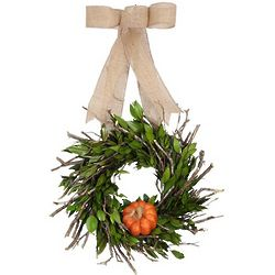 Fresh Pumpkin and Myrtle Wreath