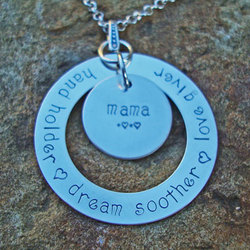 Definition of Mom Hand Stamped Necklace