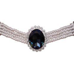 Princess Diana Sapphire Swarovski Crystal Pearl Choker