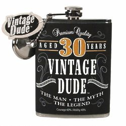 30 Year Old Fine Aged Birthday Flask