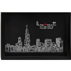 Personalized Skyline of Love Wall Art