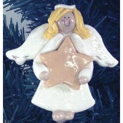 Personalized Angel and Star Ornament