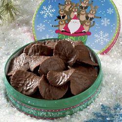 Chocolate Covered Potato Chips Santa Gift Tin