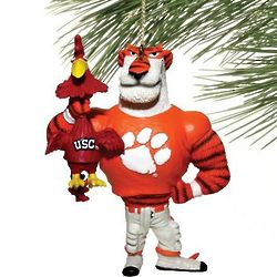 Clemson Tigers vs. South Carolina Rivalry Holiday Ornament