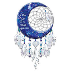 I Love You to the Moon and Back Illuminated Dreamcatcher