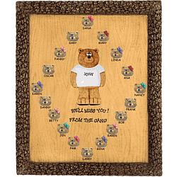 Personalized Bears on Plaque for Corporate Man