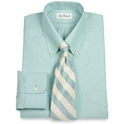 Trim Fit Non-Iron Pinpoint Oxford Buttondown Collar Dress Shirt