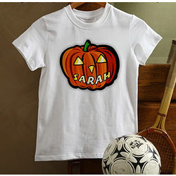 Glow in the Dark Pumpkin Youth T-Shirt