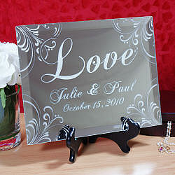 "Personalized ""Love"" Keepsake Mirror Plaque"