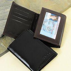 Oxford Tri-fold Genuine Leather Wallet