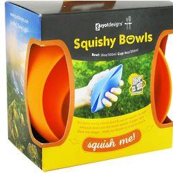 MealGear Squishy Bowl Set in Tangerine