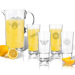 Personalized Clarus Pitcher and High Ball Glasses