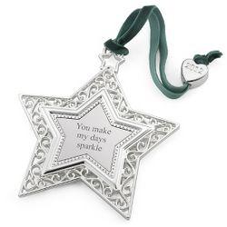 2012 Heirloom Star 2D Christmas Ornament