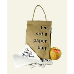 I'm Not a Paper Bag Reusable Bag and Napkins