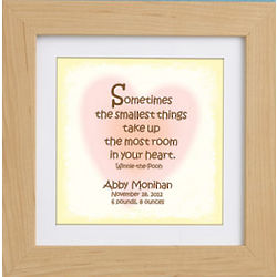Personalized Smallest Things Framed Print