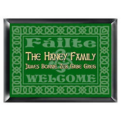 Personalized Celtic Green Family Sign
