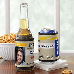 Driver's License Personalized Can and Bottle Wrap