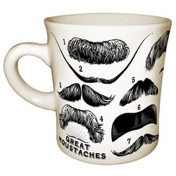 Great Mustaches 11-Ounce Coffee Mug