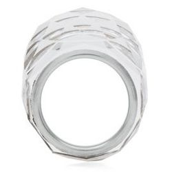 Clear Swarovski Crystal Silver Plated Nirvana Ring