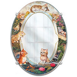 Purr-fect Reflections Kitten Wall Mirror