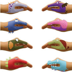 Dino Hands Tattoos