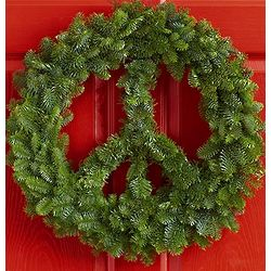 Peace on Earth Fresh Fir Wreath