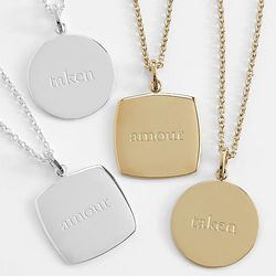 Amour or Taken Pendant Necklace