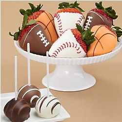 Swizzled Cake Pops and Chocolate Covered Sports Berries