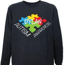 Personalized Autism Awareness Long-Sleeve Shirt