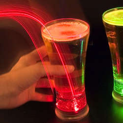 Light-Up Pilsner Beer Glasses