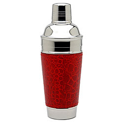 Croc Red Leather Martini Shaker