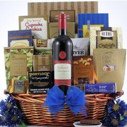 Gourmet Kosher Hanukkah Wine Gift Basket