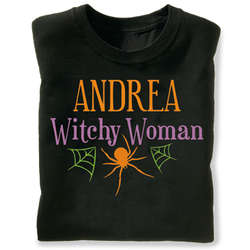 Personalized Witchy Woman Halloween Hoodie