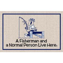 Fisherman and Normal Person Doormat