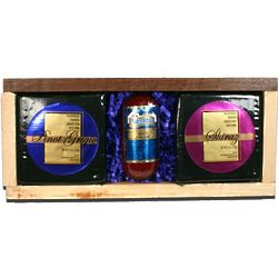Wine Flavored Cheese and Sausage Special Gift Box
