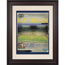2011 Notre Dame Vs. Michigan Framed Historic Football Poster