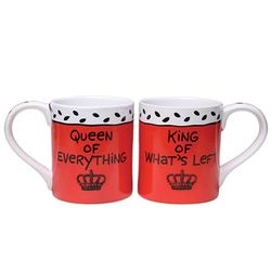 Queen and King Mug Set