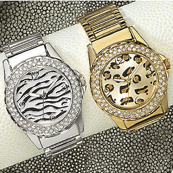 Animal Print Bracelet Watch