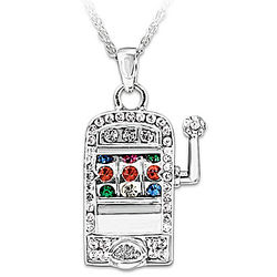 Lucky Jackpot Slot Machine Necklace