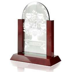 Tree of Love Glass Arch Plaque