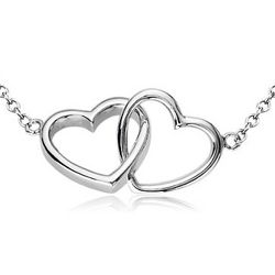 Everlasting Hearts Necklace in Sterling Silver