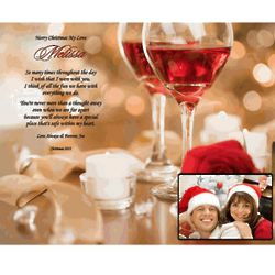 Personalized Missing You Christmas Love Poem