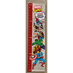 Boy's Marvel Retro Personalized Growth Chart