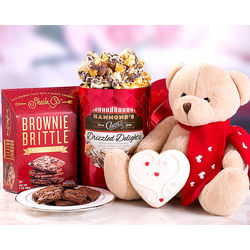 Brownie Brittle And Toffee Popcorn Valentine