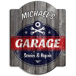 Personalized Vintage Garage Sign
