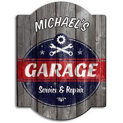 Personalized Vintage Garage Sign