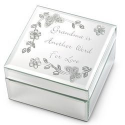 Grandma Mirrored Jewelry Box