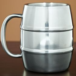 Stainless Double Wall Barrel Mug
