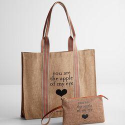 Apple of My Eye Eco Shopping Bag + Wristlet