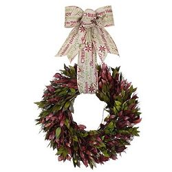 Holiday Message Preserved Myrtle Wreath